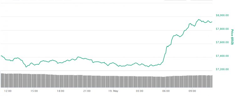 Over the weekend the price of Bitcoin fell down but it seems that the bull market has picked up its pace again